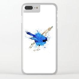 Blue Bird - Fairy Wren Clear iPhone Case