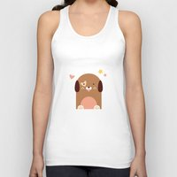 puppies Tank Tops featuring Twin Puppies by Gabriella