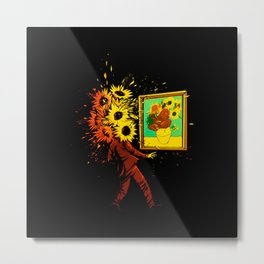 Van Gogh's Sunflowers Metal Print