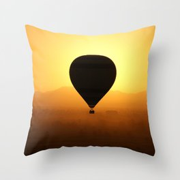 Balloon Over Valley of the Kings Throw Pillow