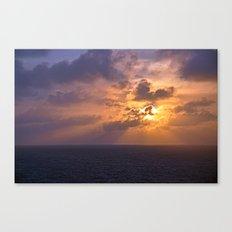 Sunrise at Sea Canvas Print