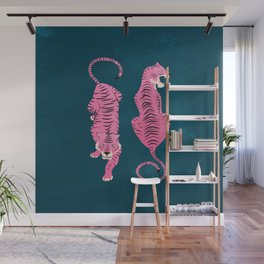 The Chase: Night Race Pink Tiger Edition Wall Mural