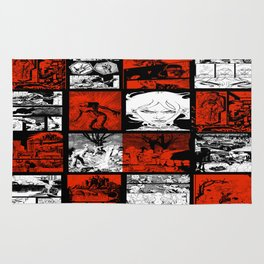 RED & WHITE - A nne Frankenstein Book I - Resurrection Rug