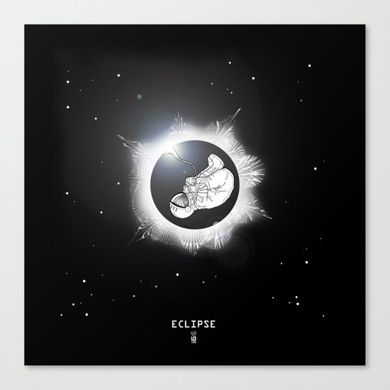 ECLIPSE :: rebirth of the lost cosmonaut Canvas Print