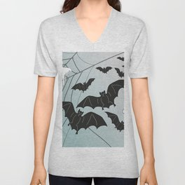 Bats & Monsters Halloween Spider Web Unisex V-Neck