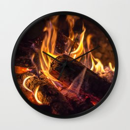 Campfire Wall Clock