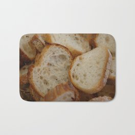 Artisan Bread Slices Bath Mat