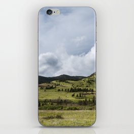 Watertown Rolling Hills and Cloudy Sky   Alberta Photography   Nature Landscapes iPhone Skin
