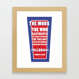 "Fwells Bikers "" Framed Art Print"