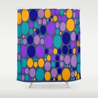 dots Shower Curtains featuring Dots by Aloke Design