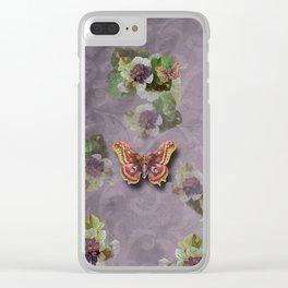papillon en purple haze Clear iPhone Case