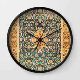 Amritsar Punjab Northwest Indian Rug Print Wall Clock