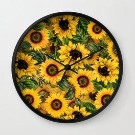 Vintage & Shabby Chic - Noon Sunflowers Garden Wall Clock