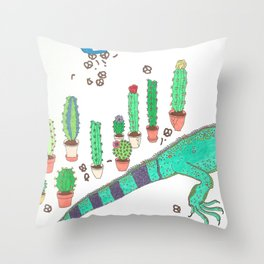 GARDEN SNACKER Throw Pillow