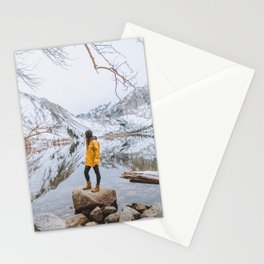 Perfect reflections in the mountains Stationery Cards