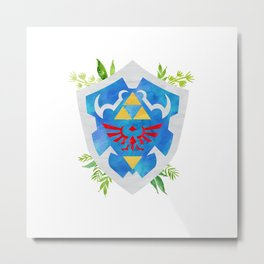 One Shield to Hyrule Them All Metal Print