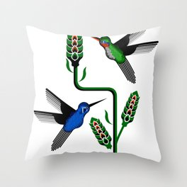 Geohummingbirds Throw Pillow