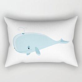 Big blue whale cartoon Rectangular Pillow