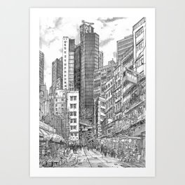 Hong Kong. China. central the mood tower Art Print