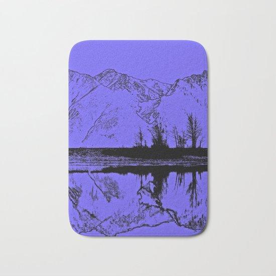 Knik River Mts. Pop Art - 1 Bath Mat