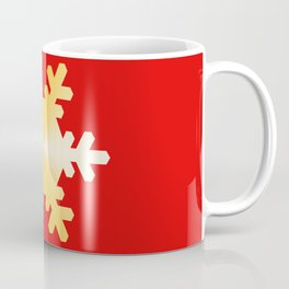 Gold Snowflake Coffee Mug