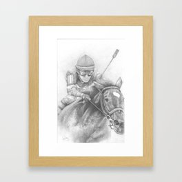 """WINTER RACING"" Framed Art Print"