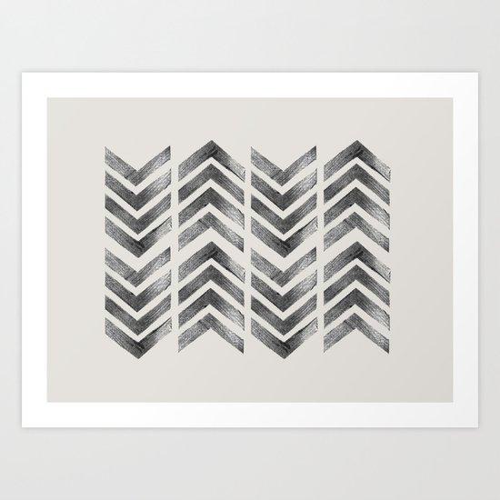 STAMPS SERIES N1 HERRINGBONE Art Print