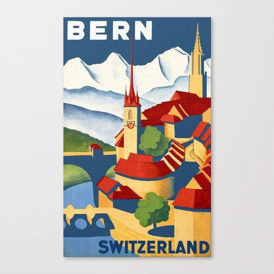 Vintage Bern Switzerland Travel Canvas Print