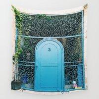 israel Wall Tapestries featuring Israel Door by Sydney Loew