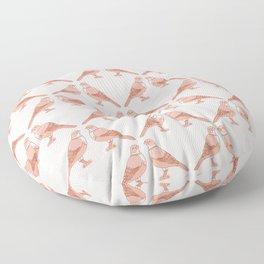 Rufous Bellied Thrush Bird Pattern Floor Pillow