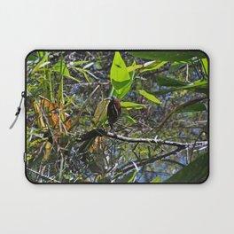 A Green heron in Corkscrew- horizontal Laptop Sleeve