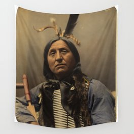 Left Hand Bear, Oglala Sioux chief Wall Tapestry