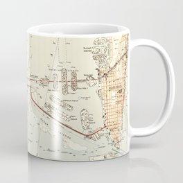 Vintage Map of Miami Florida (1950) Coffee Mug