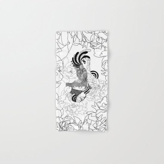 Paris Tattoo Flower Girl Hand & Bath Towel