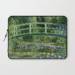 Water Lilies and Japanese Footbridge, Claude Monet Laptop Sleeve