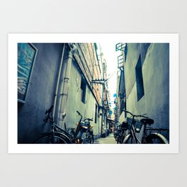 The Old Streets of China Art Print