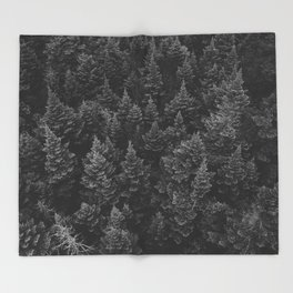 The Forest (Black and White) Throw Blanket