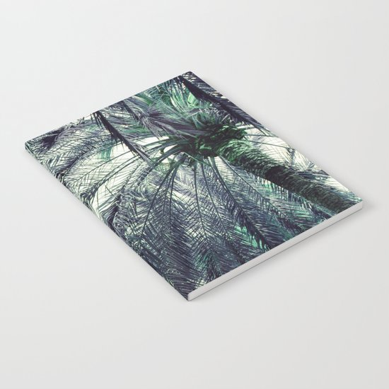 Teal Palm Tree Notebook