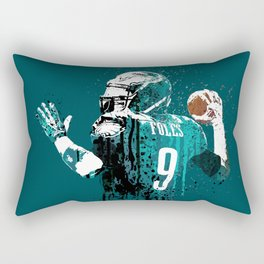 AMERICAN FOOTBALL PLAYER #on GREEN #eagles #NICK FOLES Rectangular Pillow