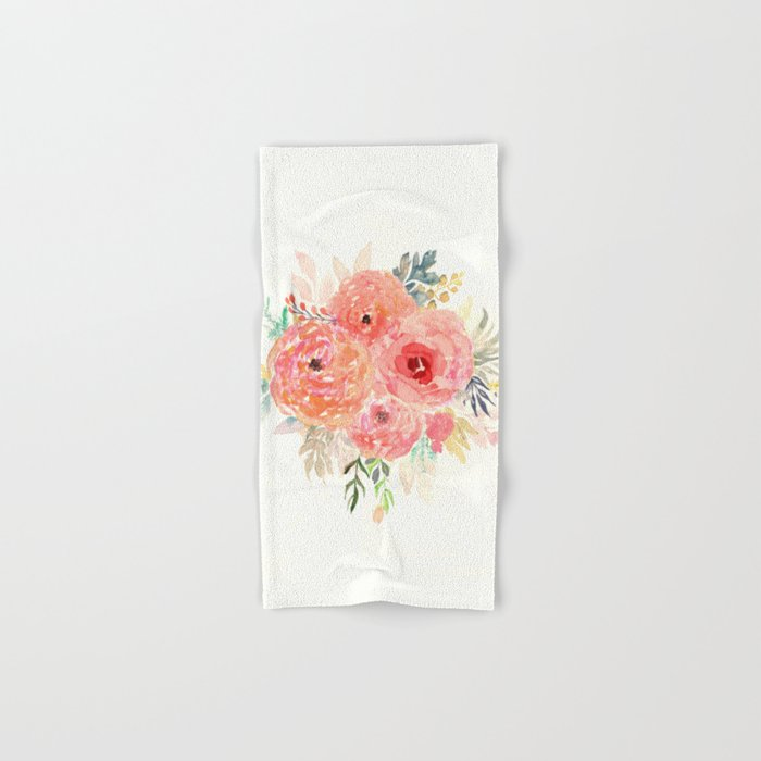 Pink Flower Bouquet Hand & Bath Towel