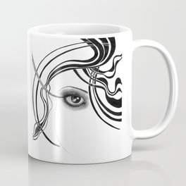 Fashion girl with smoky eyes Coffee Mug