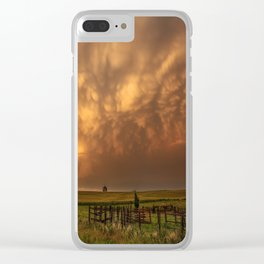 Afterglow - Clouds Glow After Storms at Sunset Clear iPhone Case
