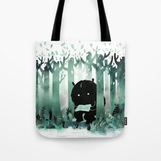 A Quiet Spot (in green) Tote Bag