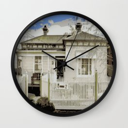 Melbourne Double Fronted Victorian  Wall Clock