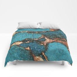 GEMSTONE  & GOLD AQUA Comforters