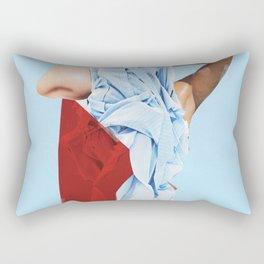 Blue Dress Rectangular Pillow