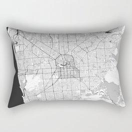 Adelaide Map Gray Rectangular Pillow