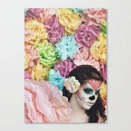 Sugar Skulls, Paper Flowers; Chasing Light, The Golden Hour Canvas Print