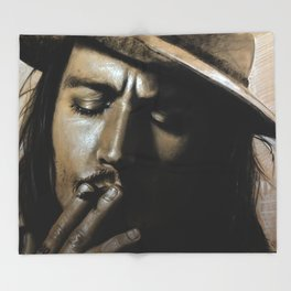 Johnny Depp Throw Blanket