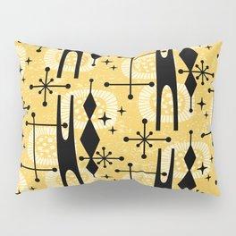 Retro Atomic Mid Century Pattern 771 Yellow Pillow Sham